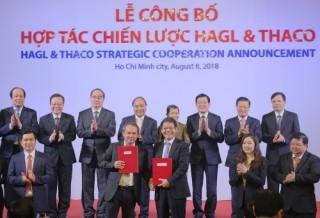Thủ tướng dự Lễ công bố hợp tác chiến lược của HAGL và THACO