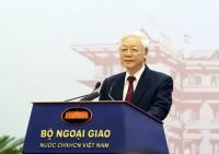 Tổng Bí thư: Cần tiếp tục đổi mới tư duy trong công tác đối ngoại