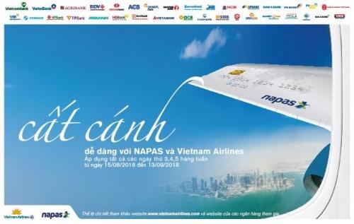 Giảm giá 15% cho khách mua vé máy bay thanh toán qua NAPAS