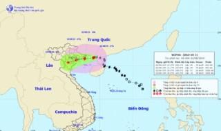 Tối nay bão đổ bộ Quảng Ninh-Thái Bình; Bắc Bộ mưa lớn tới 400mm