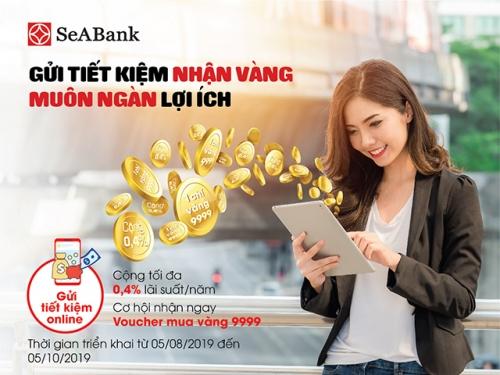 Gửi tiết kiệm có cơ hội nhận vàng tại SeABank