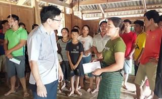 NHCSXH Thanh Hóa thăm hỏi người dân bị thiệt hại do thiên tai