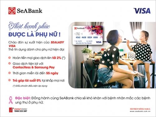 SeABank ra mắt thẻ SeALady Cashback Visa với nhiều ưu đãi dành cho chủ thẻ