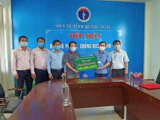 NHCSXH Quảng Ngãi chung tay ủng hộ công tác phòng, chống dịch Covid-19