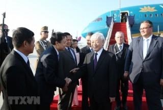 Tổng Bí thư Nguyễn Phú Trọng bắt đầu thăm chính thức Hungary