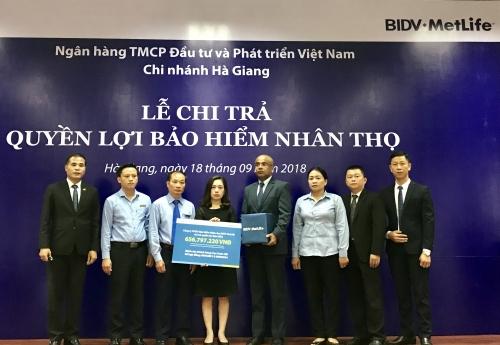 BIDV MetLife chi trả hơn 650 triệu đồng cho khách hàng