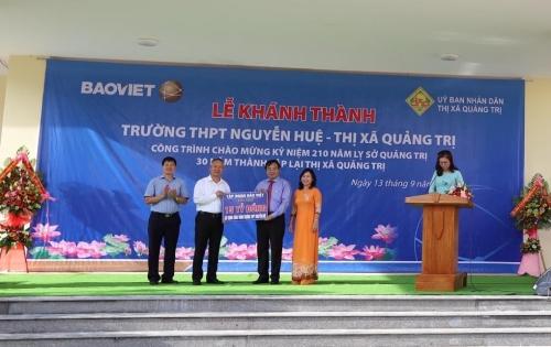 Bảo Việt dành tặng 15 tỷ đồng xây dựng trường học tại tỉnh Quảng Trị