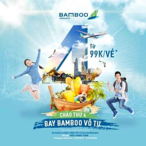 Săn vé Bamboo Airways bay nội địa chỉ từ 99.000 đồng