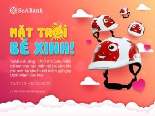 SeABank tặng mũ bảo hiểm cho khách hàng tham gia tiết kiệm gửi góp