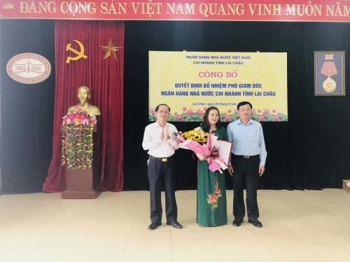 Công bố Quyết định bổ nhiệm Phó Giám đốc NHNN Chi nhánh tỉnh Lai Châu