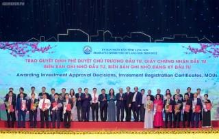 Lạng Sơn: Trao chứng nhận đầu tư với tổng số tiền hơn 105.000 tỷ đồng
