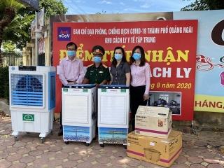 NHCSXH Quảng Ngãi ủng hộ kinh phí giúp các trường học phòng, chống dịch Covid-19