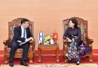 Phó Thống đốc Nguyễn Thị Hồng làm việc với Đại sứ đặc mệnh toàn quyền Israel tại Việt Nam