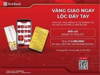 SeABank mở rộng dịch vụ mua bán vàng SJC trực tuyến