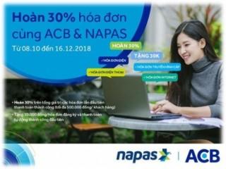 NAPAS và ACB phối hợp triển khai hàng loạt ưu đãi hấp dẫn