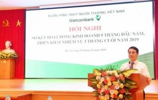 Vietcombank: Dư nợ tín dụng tăng 11,6% sau 9 tháng đầu năm