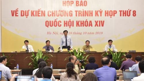 Kỳ họp thứ 8 Quốc hội khóa XIV dành hơn 60% thời gian cho công tác xây dựng pháp luật