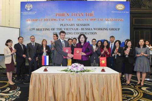 Ngân hàng Nhà nước chủ trì Kỳ họp lần thứ 17 Tổ Công tác Việt – Nga về hợp tác ngân hàng