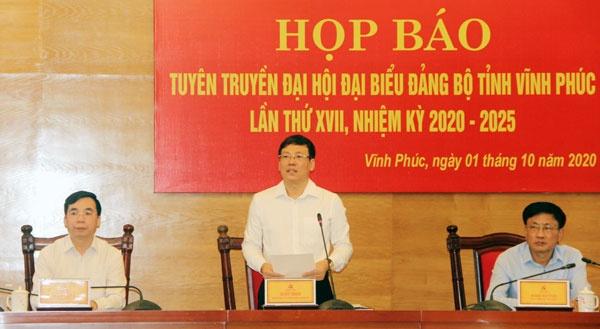 dai hoi dai bieu dang bo tinh vinh phuc hun duc khat vong phat trien