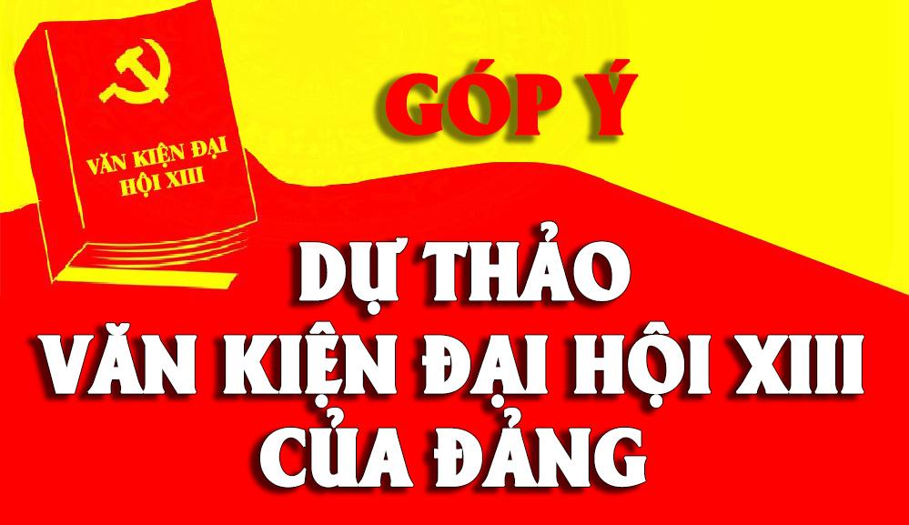 huong dan nhan dan gop y kien du thao van kien trinh dai hoi xiii cua dang