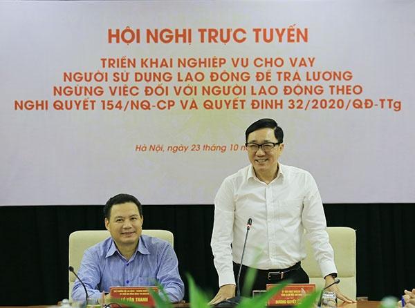 nhcsxh trien khai nghiep vu cho vay de tra luong ngung viec cho nguoi lao dong