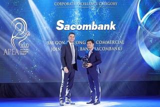 Sacombank đạt giải thưởng doanh nghiệp, doanh nhân xuất sắc châu Á năm 2020