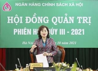 Thống đốc Nguyễn Thị Hồng chủ trì Phiên họp Hội đồng quản trị NHCSXH thường kỳ quý III/2021