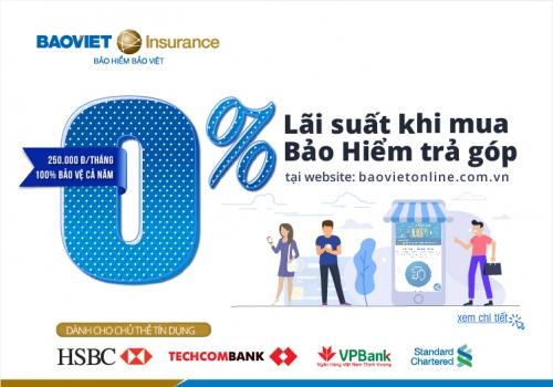 Bảo Việt ưu đãi mua bảo hiểm trả góp cho chủ thẻ tín dụng
