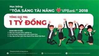VPBank dành gần 1 tỷ đồng cho Quỹ học bổng tài năng 2018
