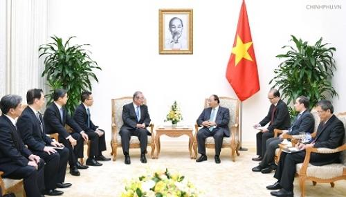 Thủ tướng Nguyễn Xuân Phúc tiếp Chủ tịch Ngân hàng Sumitomo Mitsui