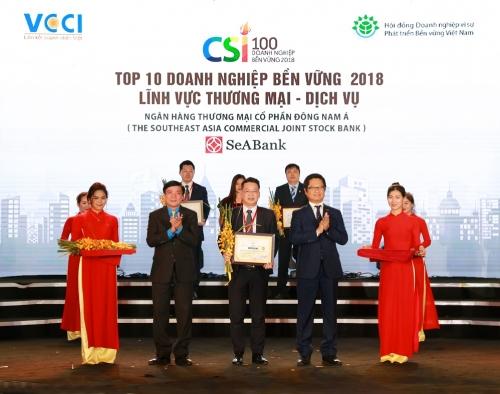 Năm thứ 2 liên tiếp SeABank được vinh danh Doanh nghiệp bền vững