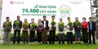 SeABank tặng cây xanh, chung tay hồi sinh rừng tại núi Hồng Lĩnh