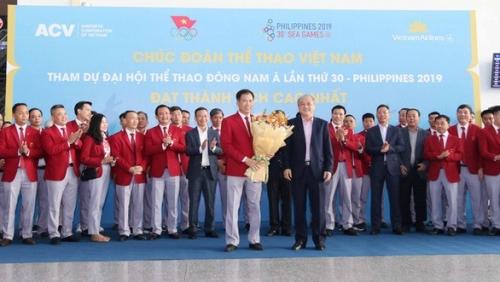 doan the thao viet nam chinh thuc len duong tham du sea games 30