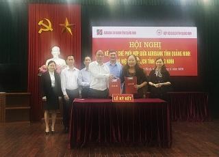 Agribank Quảng Ninh và Hiệp hội Du lịch tỉnh ký kết quy chế phối hợp