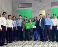 Vietcombank Thăng Long xây nhà tình nghĩa cho hộ nghèo huyện Mỹ Lộc - Nam Định