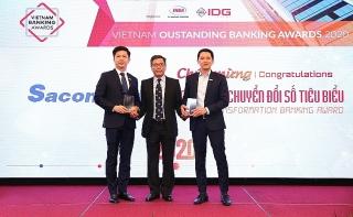 Sacombank nhận 2 giải thưởng về bán lẻ và chuyển đổi số