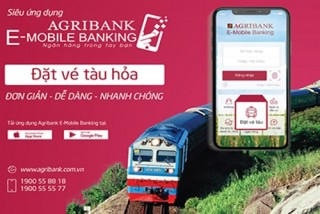 Agribank: Thanh toán vé tàu giá ưu đãi trên E-Mobile Banking