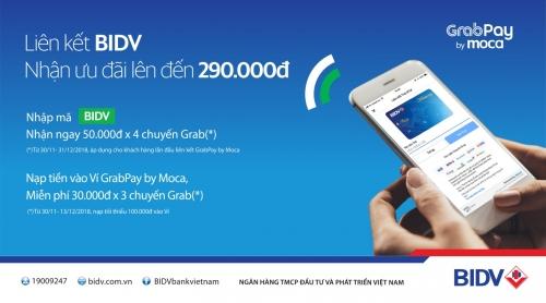 Ưu đãi cho khách hàng BIDV dùng Grabpay by Moca