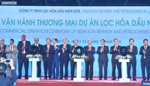 chinh thuc van hanh thuong mai nha may loc hoa dau nghi son