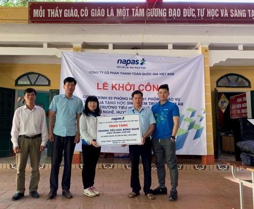 NAPAS xây phòng học cho học sinh miền núi huyện Đà Bắc