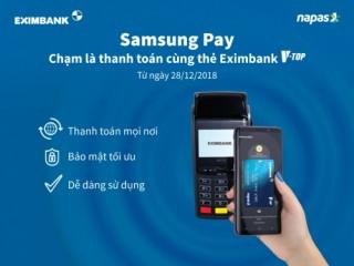 Thanh toán bằng ứng dụng Samsung Pay tại POS