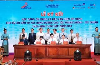4 ngân hàng cam kết cho vay 6.686 tỷ đồng dự án cao tốc Trung Lương - Mỹ Thuận