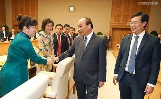 Thủ tướng mong muốn các doanh nhân trẻ đi đầu trong đóng góp về cải cách thể chế
