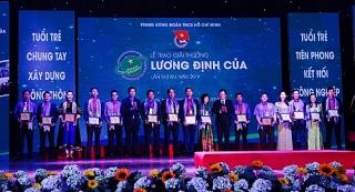 34 nhà nông trẻ được trao Giải thưởng Lương Định Của năm 2019