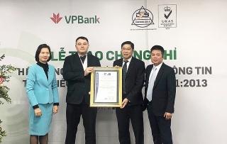 VPBank được cấp chứng chỉ về An toàn thông tin