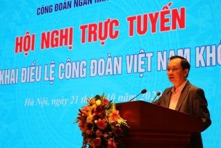 Công đoàn Ngân hàng Việt Nam: Tập huấn hướng dẫn thi hành Điều lệ Công đoàn khoá XII
