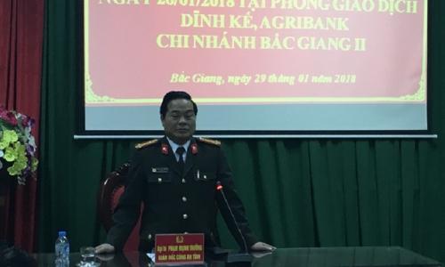 Bắt gọn đối tượng cướp Agribank Dĩnh Kế; thu hồi hơn 1 tỷ đồng