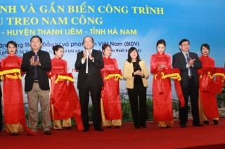 Khánh thành cầu treo dân sinh tại Hà Nam do BIDV tài trợ