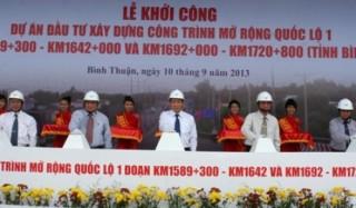 Dự án mở rộng QL1 qua Bình Thuận: Sẽ thay nhà thầu nếu không đảm bảo tiến độ