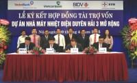 3 ngân hàng đồng tài trợ 4.500 tỷ đồng cho Nhiệt điện Duyên Hải 3 mở rộng